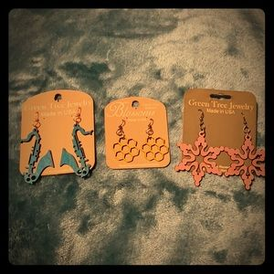 Accessories - NWT MISC WOOD EARRINGS
